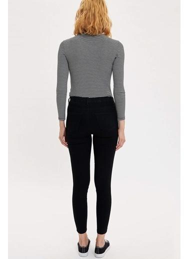 DeFacto Anna Yüksek Bel Super Skinny Jean Pantolon Siyah